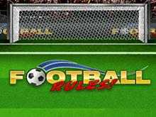 На игровом портале выбирайте слот Football Rules!